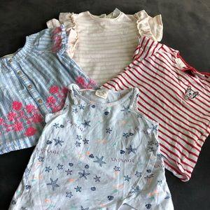 BUNDLE OF FOUR BABY ZARA GIRLS TOPS